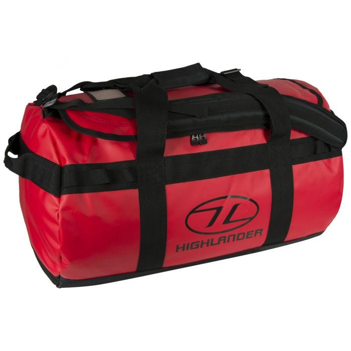 Highlander Lomond Tarpaulin 65L Duffle Bag Red