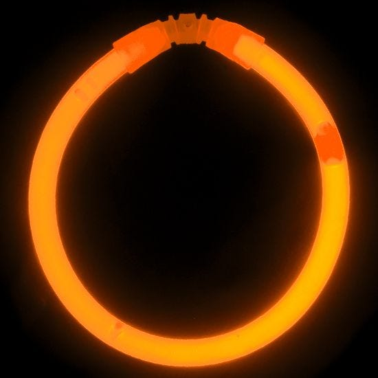 "Illumiglow 7.5"" Wrist Band Orange"