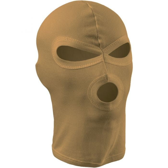 MFH 3 Hole Balaclava Lightweight Cotton Coyote Tan