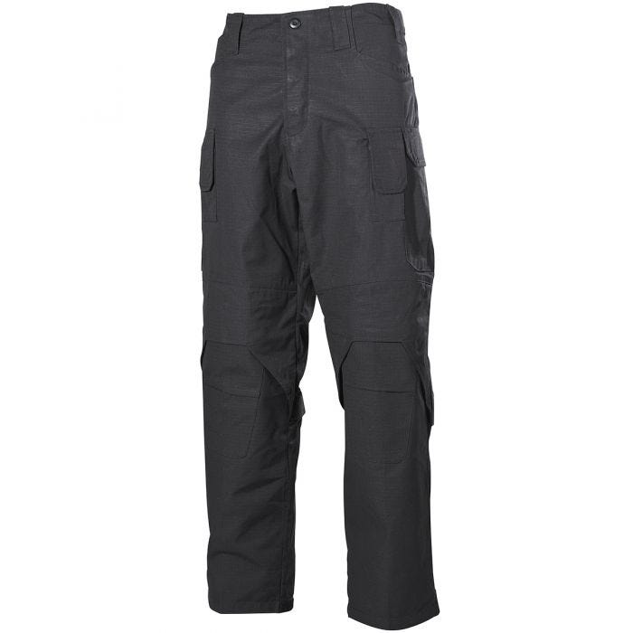 MFH Mission Combat Trousers Ripstop Black