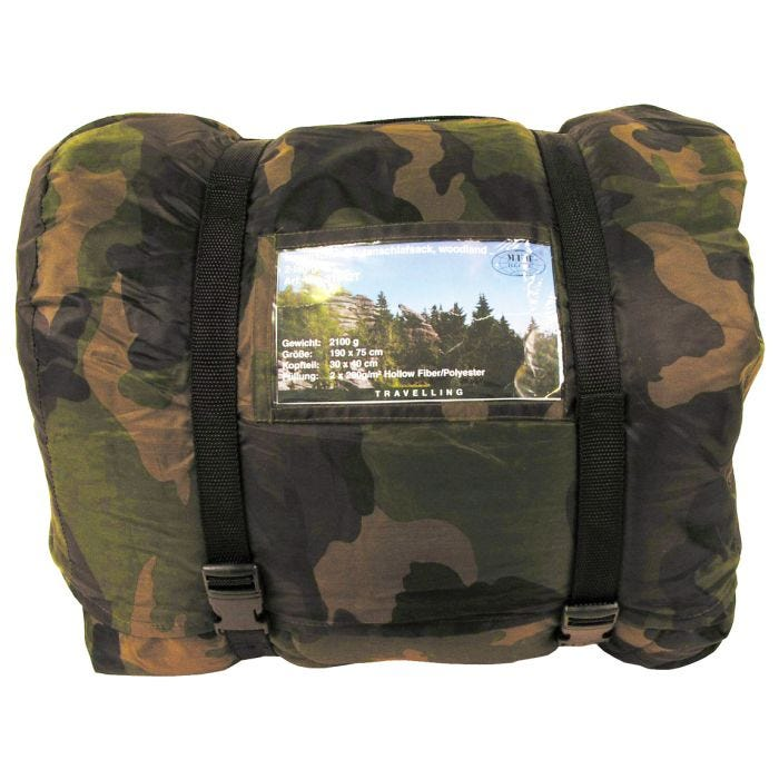 MFH Israeli Pilot's Sleeping Bag Woodland Camo