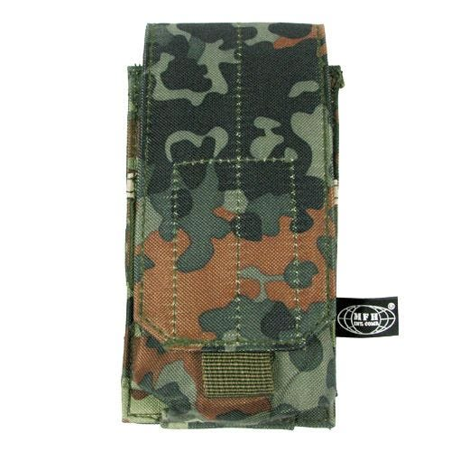 MFH Single M4/M16 Magazine Pouch MOLLE Flecktarn