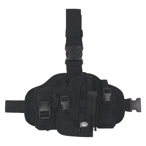 MFH MOLLE Leg Holster with Pouches Black