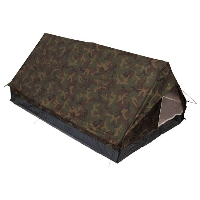 MFH 2 Person Tent Minipack with Mosquito Net Woodland
