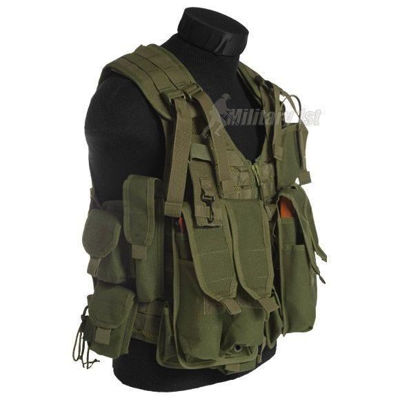 Mil-Tec AK74 Vest with Pouches Olive
