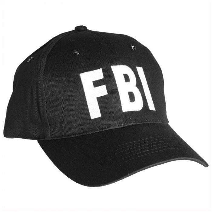 Mil-Tec FBI Baseball Cap with Plastic Band Black