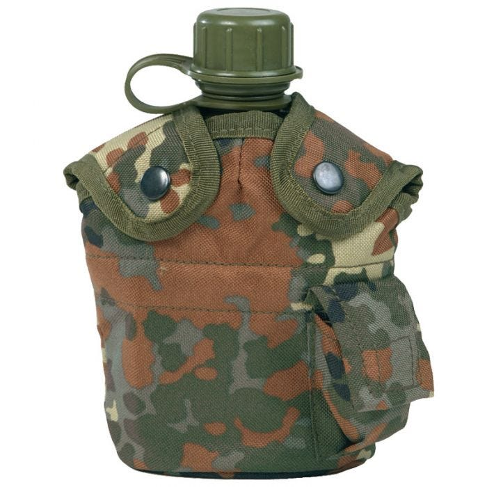 Mil-Tec US Style Canteen and Cup Flecktarn
