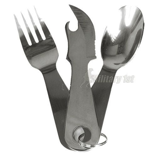 Mil-Tec Stainless Steel Cutlery Set with Pouch