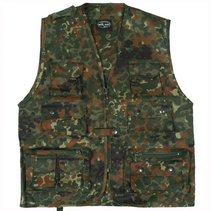 Mil-Tec Fishing Vest Flecktarn