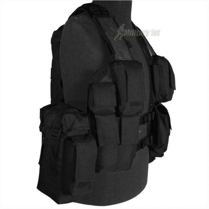 Mil-Tec South African Assault Vest Black