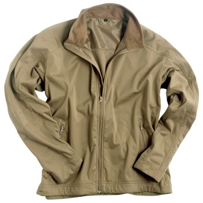 Mil-Tec Soft Shell Jacket Lightweight Coyote