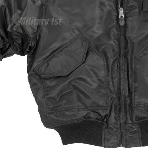 CWU-45P Jacket with Fur Collar Black