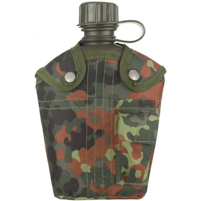 Mil-Tec Canteen with Cover 1 Litre Flecktarn