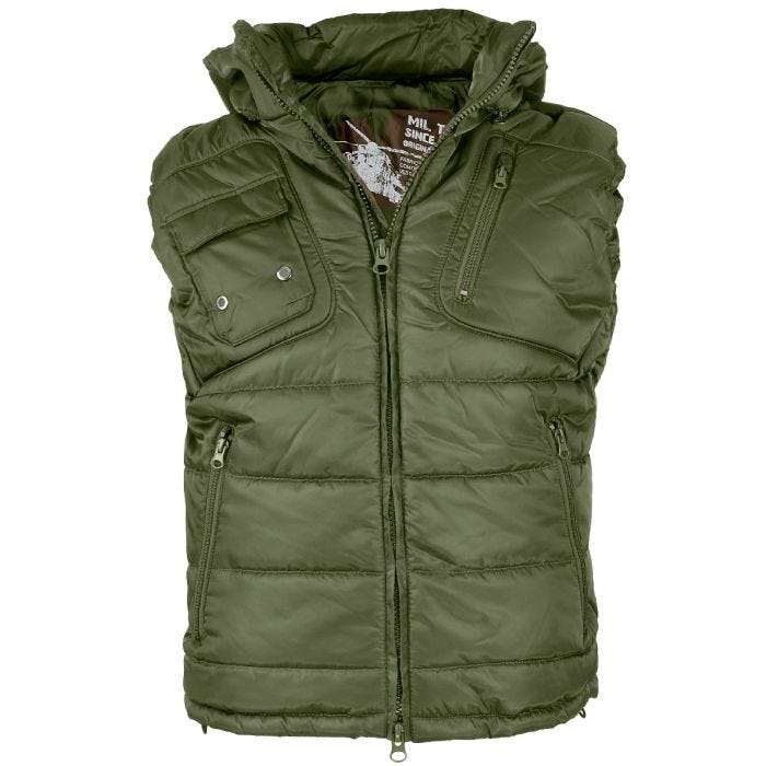 Mil-Tec Pro Vest with Detachable Hood Olive