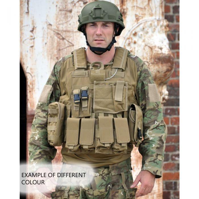 Mil-Tec M.Release MOLLE Combat Vest Black