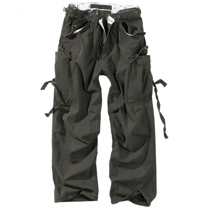 Surplus Vintage Fatigues Trousers Black