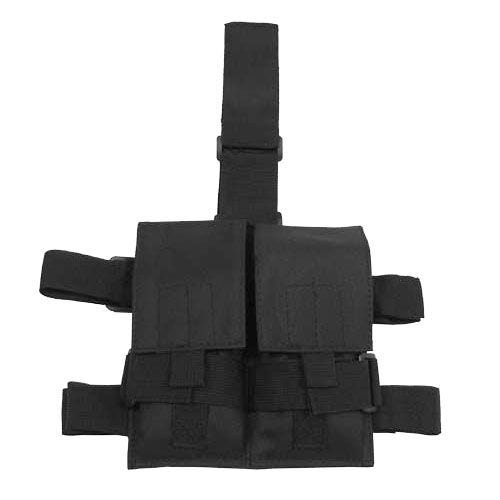 MFH Tactical Leg Pouch Double Magazine Black
