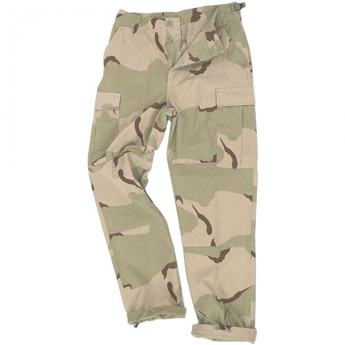 Teesar BDU Trousers Ripstop 3-Colour Desert