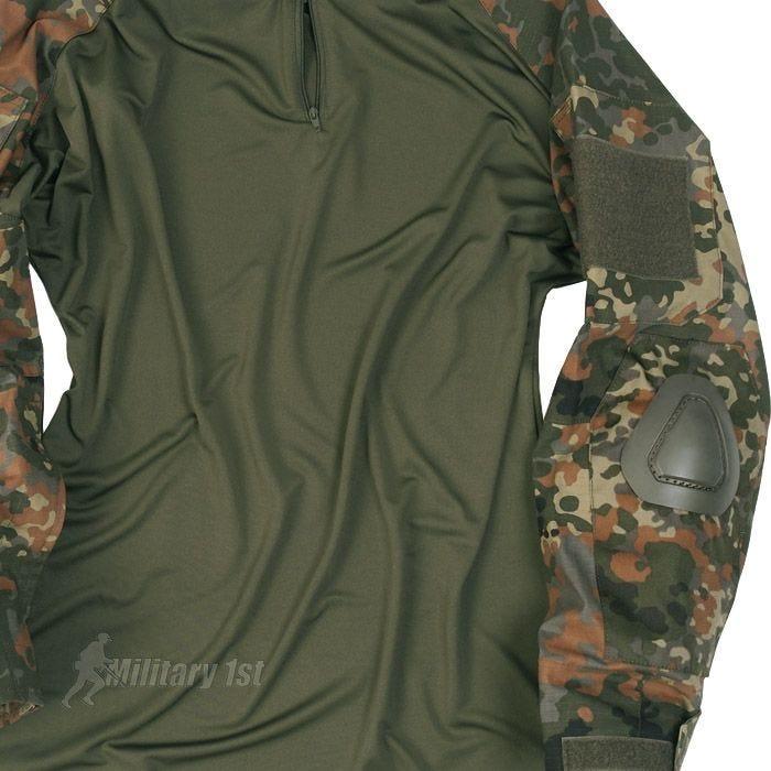 Mil-Tec Warrior Shirt with Elbow Pads Flecktarn