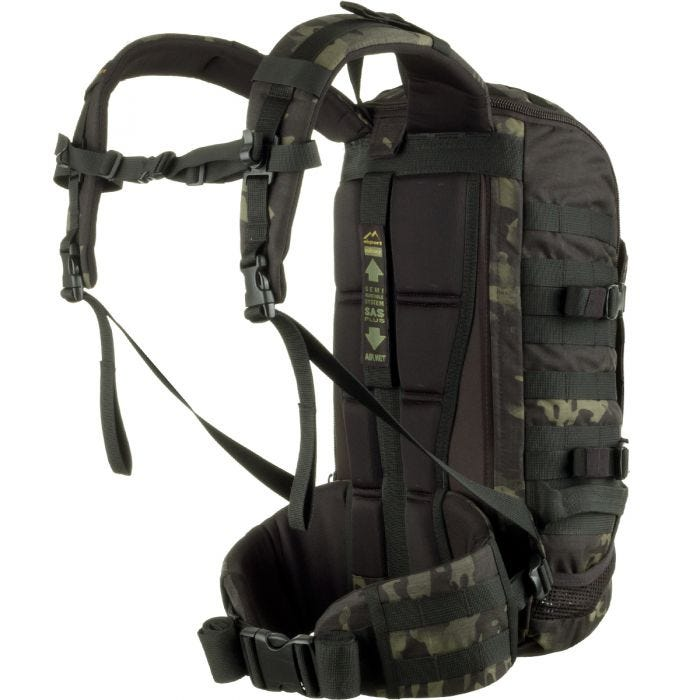 Wisport ZipperFox 25L Rucksack MultiCam Black