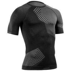Tervel Optiline Shirt Short Sleeve Black/Grey