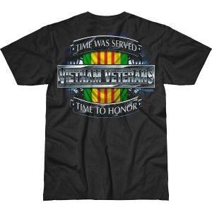 7.62 Design Vietnam Veterans Time Served Battlespace T-Shirt Black