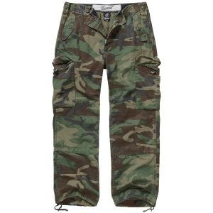 Brandit Hudson Ripstop Trousers Woodland