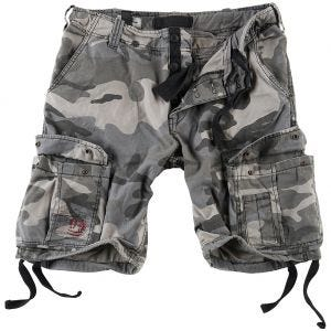 Surplus Airborne Vintage Shorts Washed Night Camo