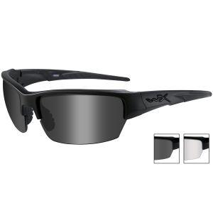 Wiley X WX Saint Glasses - Smoke Grey + Clear / Matte Black Frame