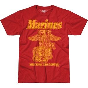 7.62 Design USMC Retro Battlespace T-Shirt Scarlet
