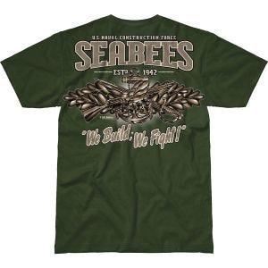 7.62 Design USN Seabees Vintage Battlespace T-Shirt Military Green