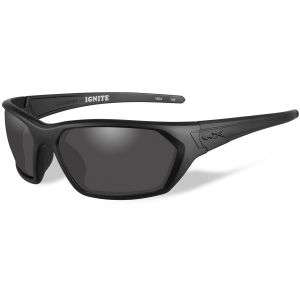 Wiley X WX Ignite Glasses - Smoke Grey Lens / Matte Black Frame