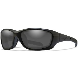 Wiley X WX Gravity Glasses - Captivate Polarized Smoke Grey Lens / Matte Black Frame