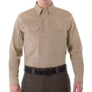 First Tactical Men's V2 Long Sleeve Tactical Shirt Khaki