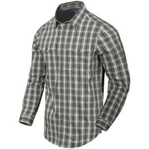 Helikon Covert Concealed Carry Shirt Foggy Grey Plaid