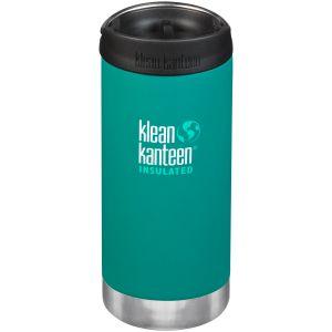 Klean Kanteen TKWide 355ml Insulated Bottle Cafe Cap Emerald Bay