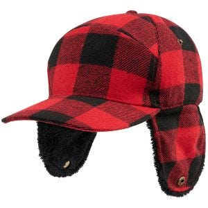 Brandit Lumberjack Winter Cap Red/Black Checkered