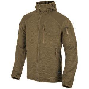 Helikon Alpha Hoodie Jacket Grid Fleece Coyote