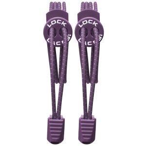 Lock Laces Elastic No Tie Shoelaces Purple
