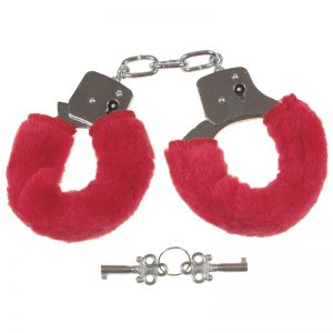 MFH Classic Love Handcuffs with Red Furry Trim
