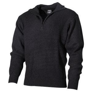 MFH Navy Sweater Acrylic Black