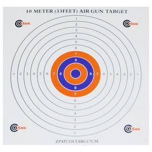 SMK Colour Centre 17cm Paper Targets (100 Pack)