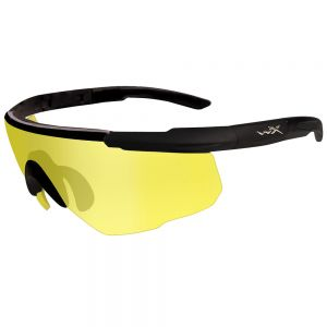 Wiley X Saber Advanced Glasses - Pale Yellow Lens / Matte Black Frame