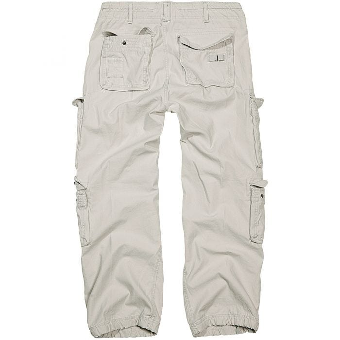 Brandit Pure Vintage Trousers Old White