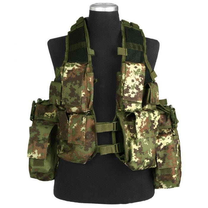 Mil-Tec South African Assault Vest Vegetato Woodland