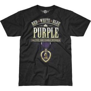 7.62 Design Combat Wounded Purple Heart Battlespace T-Shirt Black