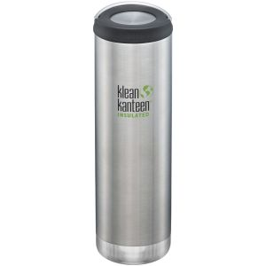 Klean Kanteen TKWide 591ml Insulated Bottle Loop Cap Brushed Stainless