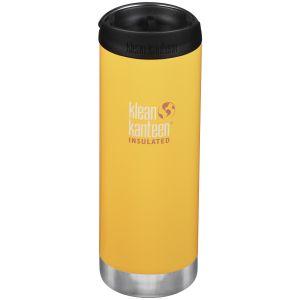 Klean Kanteen TKWide 473ml Insulated Bottle Cafe Cap 2.0 Lemon Curry