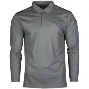 Mil-Tec Tactical Long Sleeve Quick Dry Polo Shirt Urban Grey