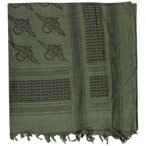 Mil-Tec Shemagh Scarf Paratrooper Olive / Black